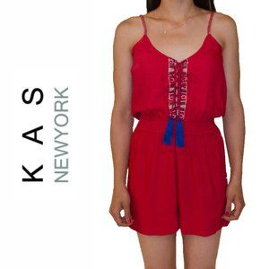 KAS New York Holly Romper with Tassels